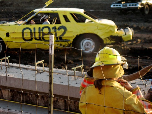 demolition derby...fire fighter woman