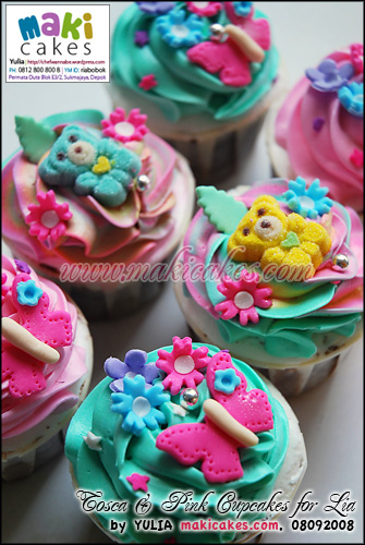 Tosca & Pink Cupcakes for Lia - Maki Cakes