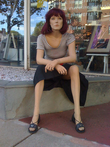 Mannequin outside the Photography Center in Bethesda, Maryland - Taken With An iPhone