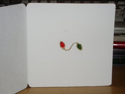 this is the inside of the card above