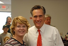 Renee Schulte and Mitt Romney