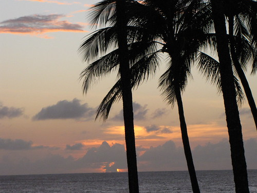 Sunset on Poipu Beach, 12.27.08