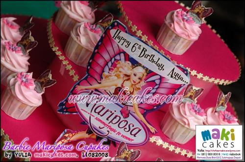 Barbie Mariposa Cupcakes_ - Maki Cakes