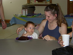 1st birthday with mom