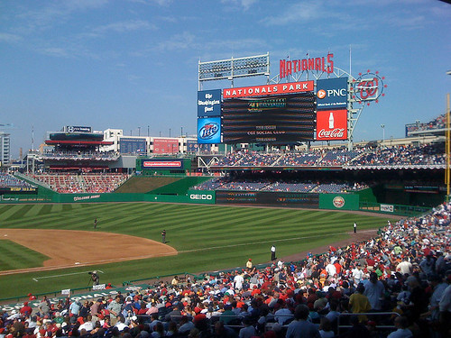 Washington Nationals stadium in south east Washington DC - Taken With An iPhone
