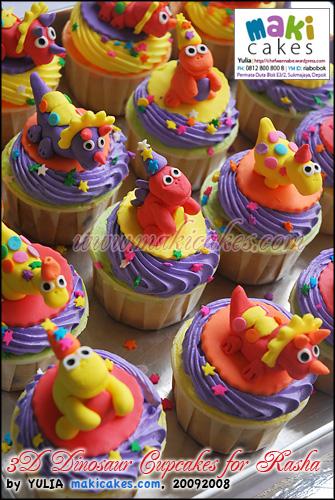 3D Dinosaur Cupcakes for Rasha - Maki Cakes