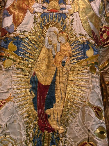 Our Lady on the front of the Chasuble from St Mark's Philadelphia