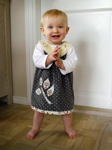 Frida in her new dress