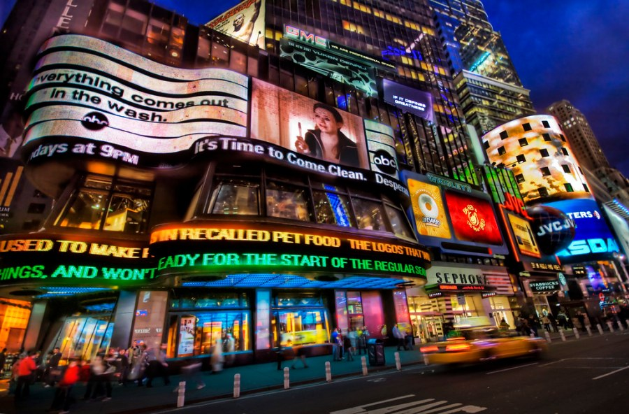 An Electric Night in Times Square