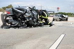 Schwerer Unfall A66 Hofheim 08.09.08