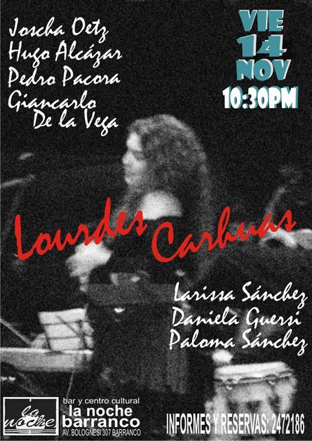 Afiche Lourdes Carhuaz