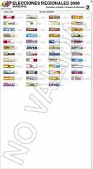 Tarjetón Electoral para el Municipio Iribarren del Estado Lara. Click para ver en tamaño original.