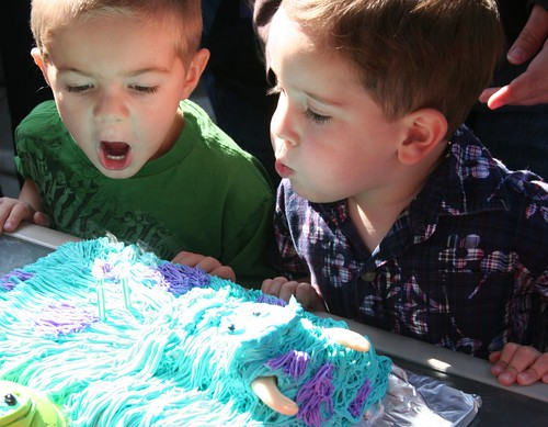 caden blowing wyatts candles by you.