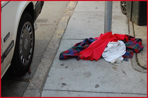 discarded clothing
