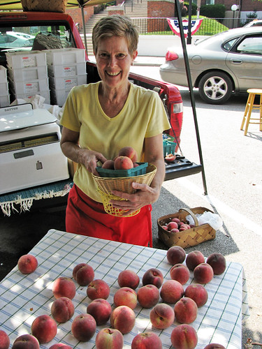 Anna Dale With Peaches