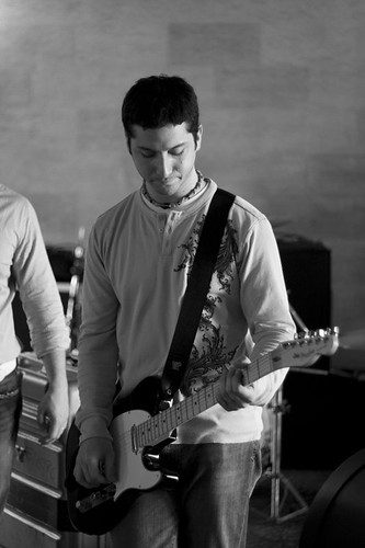 Alejandro playing guitar at Crosley.