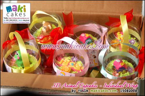 3D Animal Cupcakes_Individual Wrap - Maki Cakes