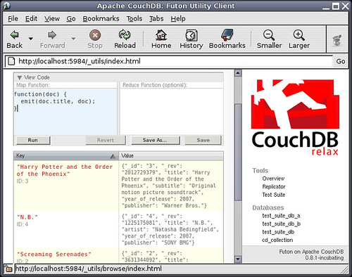 Creating a view in CouchDB