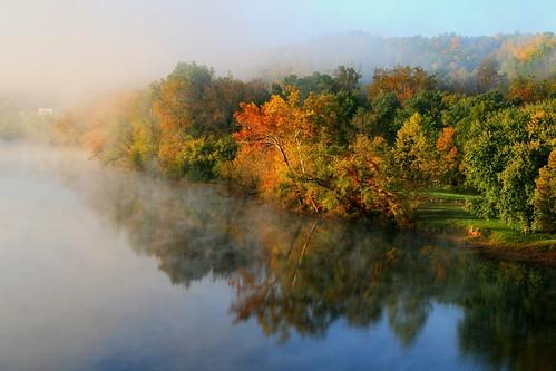 Autumns Morning Light and Mist