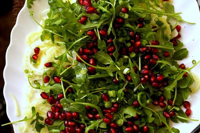 fennel, prosciutto and pomegranate salad