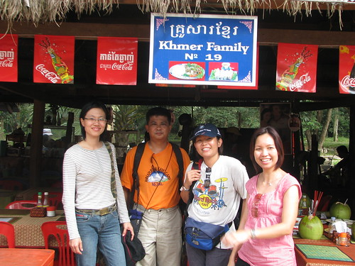 Group photo at Khmer Family Restaurant