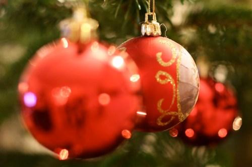 Stacked christmas balls