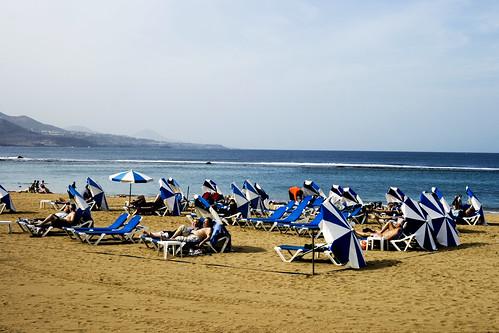 Playa de las canteras in December