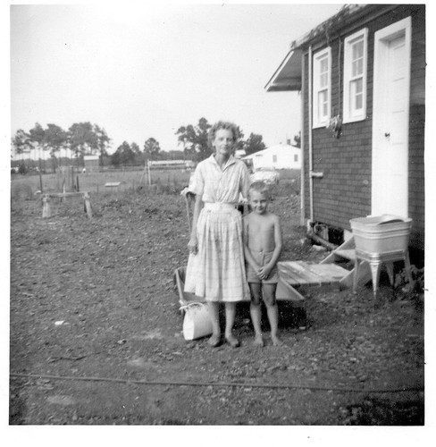Me & mom behind Lyde's old house.