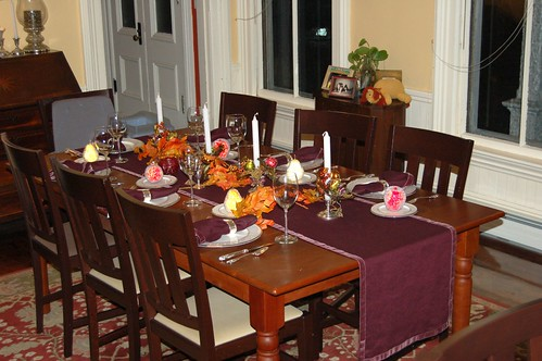 Thanksgiving Dinner Table