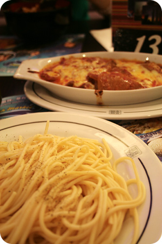 KG cheese curry beef & spaghetti