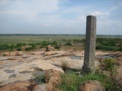 Pillar on hillock