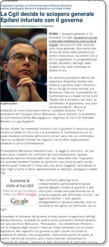 La Cgil decide lo sciopero generale Epifani infuriato con il governo - economia - Repubblica.it