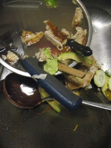 supper night dirty sink