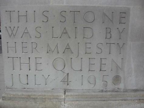 Stone laid by her Majesty