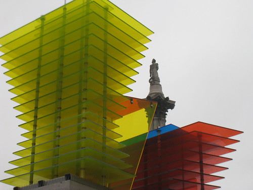 Nelsons Column, seen through Model for a Hotel