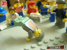 B-boying from minifigs