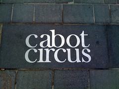 Cabot Circus pavement type