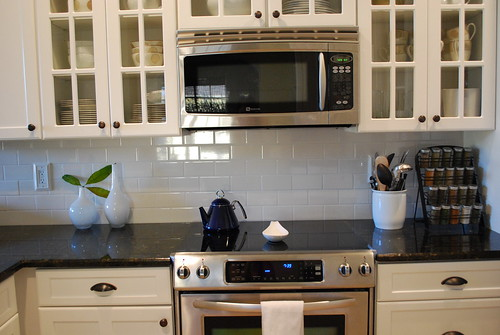 Backsplash installed by you.