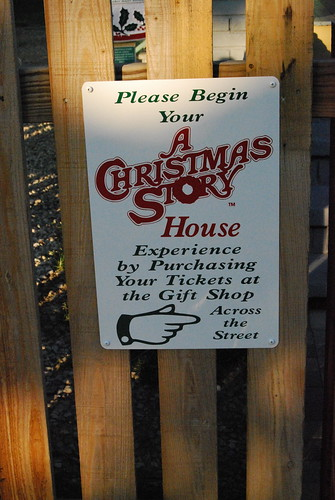 Signage for the Christmas Story House