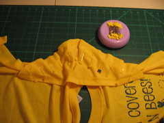 re-attaching the sleeve