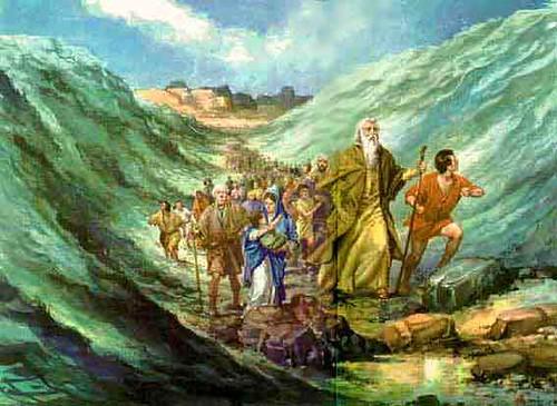 a travessia do mar vermelho imagens bíblicas