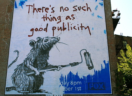Banksy Rat Mural in Soho, New York: Ther by caruba, on Flickr