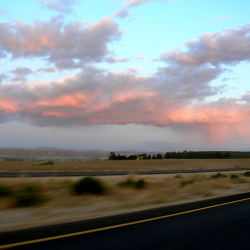 80 mph sunset in Central California