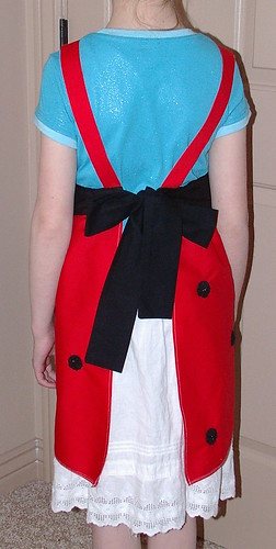 ladybug apron back side