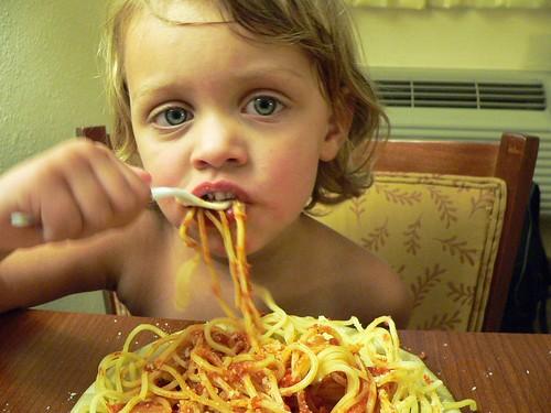pasta in the hotel
