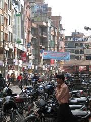 Una calle cercana a la plaza Durbar, Katmandú, Nepal
