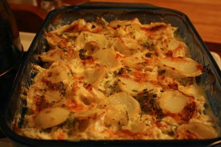 Potato Cauliflower Gratin