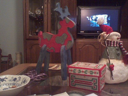 Wacky reindeer and embroidered box