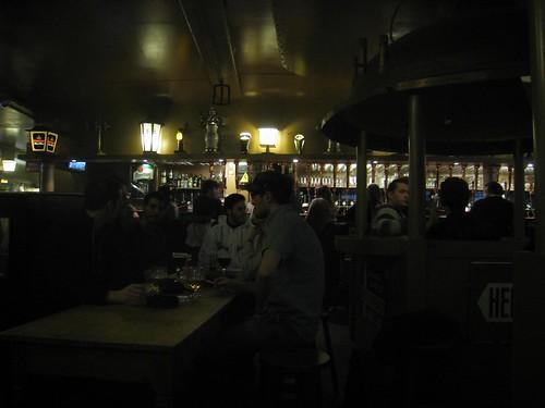 Upstairs at the Delirius bar