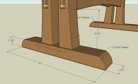 Plans to build Trestle Table Design Plans PDF Plans